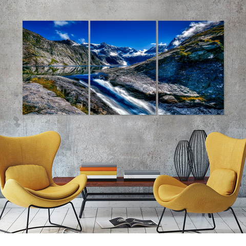 Fiordland National Park Canvas-Medium-Not Framed-Cool Tees & Things