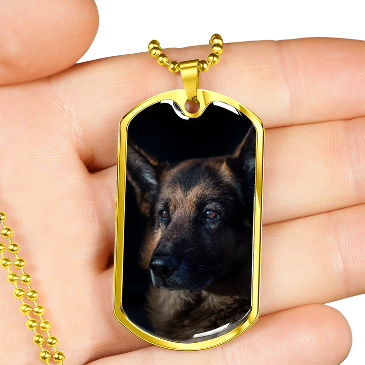 German Shepherd Dog Tag - Cool Tees and Things