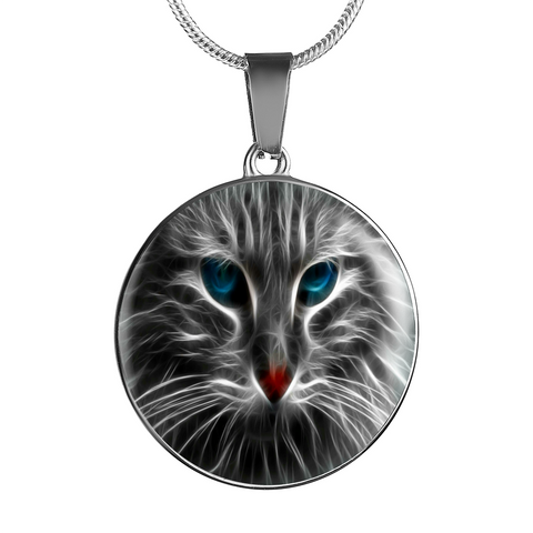 Pendants bangles silver jewelry and more glowing cat pendant cool tees and things mozeypictures Images