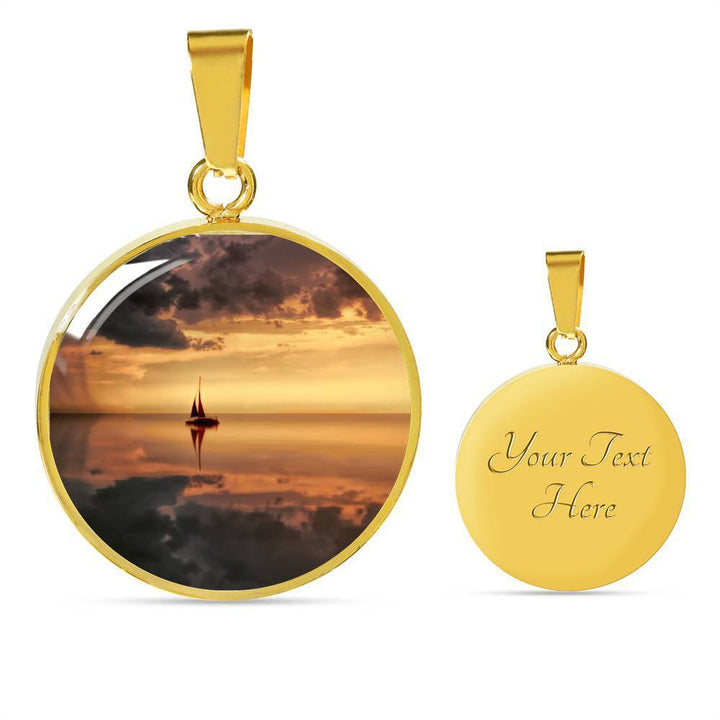 Golden Sunset Sailing Pendant - Cool Tees and Things