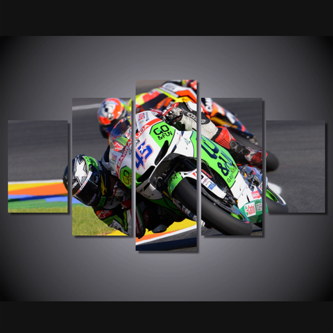 Grand Prix Motorcycle Racing-Wallart 5 Piece Diamond-Medium - Not framed-Cool Tees & Things
