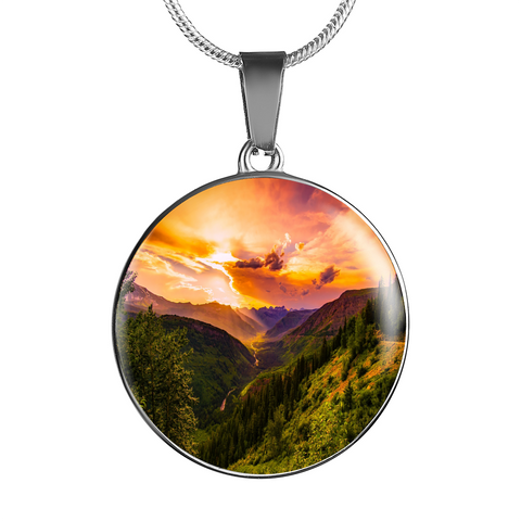 Pendants bangles silver jewelry and more green mountain at sunrise pendant cool tees and things mozeypictures Images