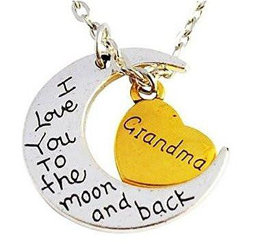 I Love You to the Moon and Back Grandma Pendant - Cool Tees and Things