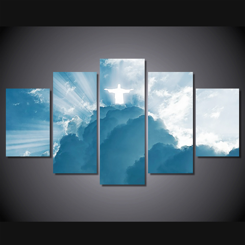 Jesus Is Coming...-Wallart 5 Piece Diamond-Medium - Not framed-Cool Tees & Things