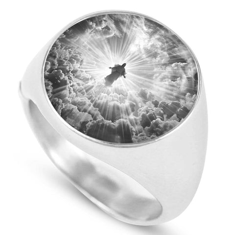 Jesus is Coming Limited Edition Grayscale Luxury Ring - Cool Tees and Things