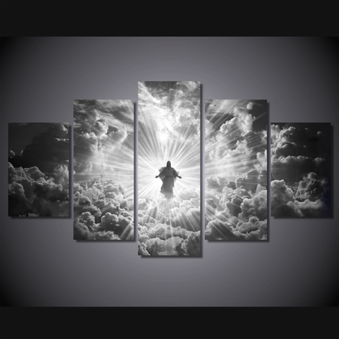 Jesus Is Coming Limited Edition Grayscale Medium Framed Canvas Art Mural - Cool Tees and Things