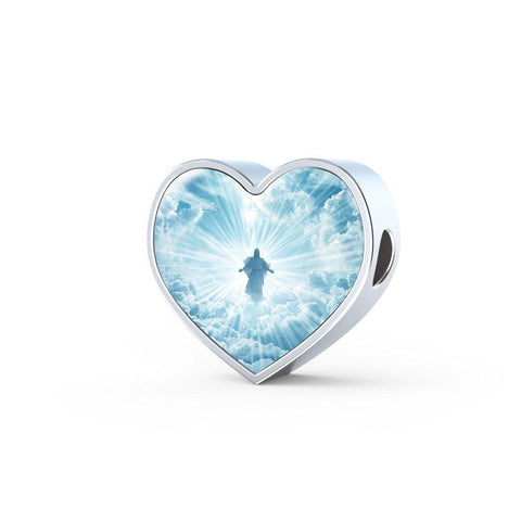Jesus Is Coming Limited Edition Heart Charm - Cool Tees and Things
