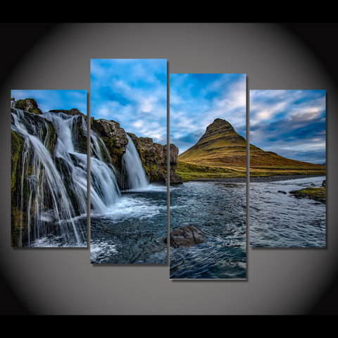 Kirkjufell Mountain Iceland-Medium-Not Framed-Cool Tees & Things