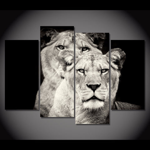 Lion Pride-Medium-Not Framed-Black/White/Gray-Cool Tees & Things