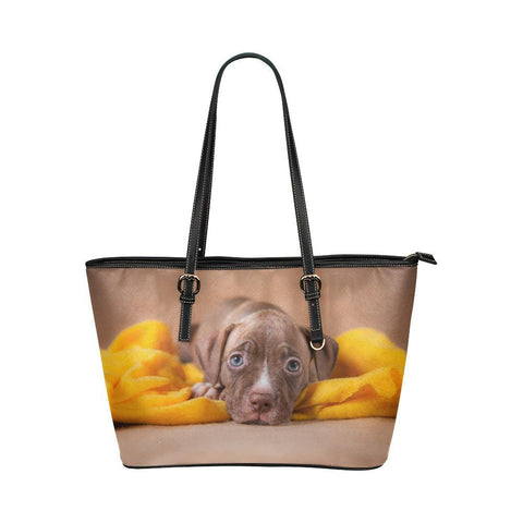 Loveable Pit Bull Puppy Tote - Cool Tees and Things