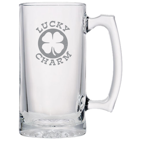 Lucky Charm Beer Mug- Laser Etched