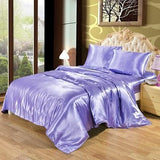 Luxury Satin Fitted Sheet.  Ultra Soft Elegant Silky Satin 2/3 Pcs Bed Sheet Set - Cool Tees and Things