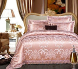 Luxury Wedding Bedding Set. King Queen Size. Jacquard Cotton Duvet Cover Bed set
