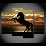 Magnificent Sunlit Horse Canvas-Medium-Not Framed-Brown/Orange-Cool Tees & Things