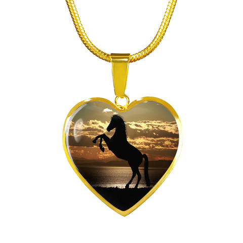 Pendants bangles silver jewelry and more majestic sunlit horse pendant cool tees and things mozeypictures Image collections