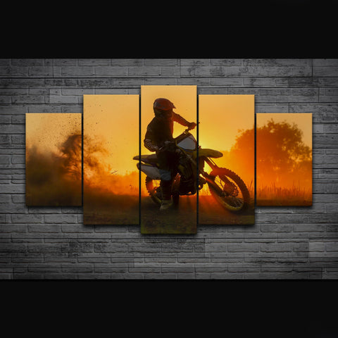 Motocross at Sundown-Medium-Not Framed-Cool Tees & Things