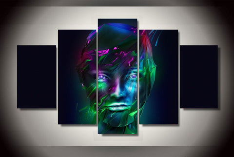 Neon Portrait-Medium-Not Framed-Cool Tees & Things
