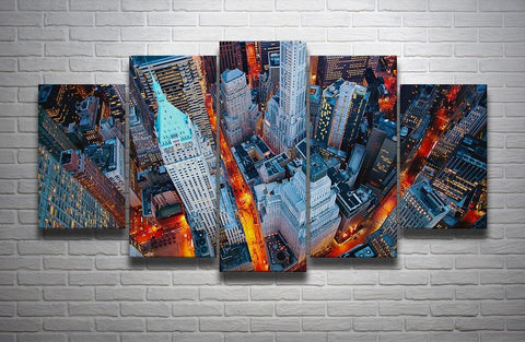 New York Lovers Canvas-Medium-Not Framed-Cool Tees & Things