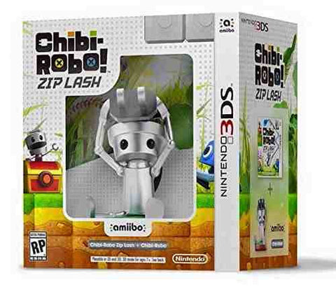 Nintendo 3DS Chibi-Robo!: Zip Lash with Chibi-Robo amiibo bundle - Cool Tees and Things
