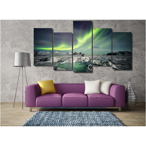 Northern Lights In Arctic-Medium-Not Framed-Cool Tees & Things