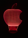 Personalized Apple Led Night Light - Cool Tees and Things