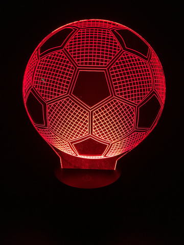 cool tees and things personalized soccer ball led night light