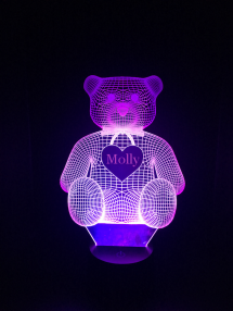 Personalized Teddy Bear Led Night Light - Cool Tees and Things