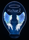 Personalized Wings Led Night Light - Cool Tees and Things