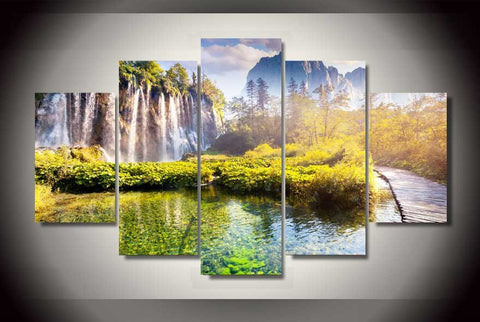 Plitvice Lakes National Park-Medium-Not Framed-Cool Tees & Things