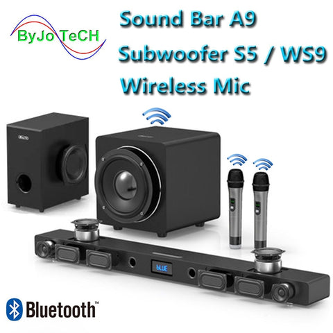 Home Theater Sound: JY AUDIO A9 Bluetooth Soundbar 5.1. Surround Sound
