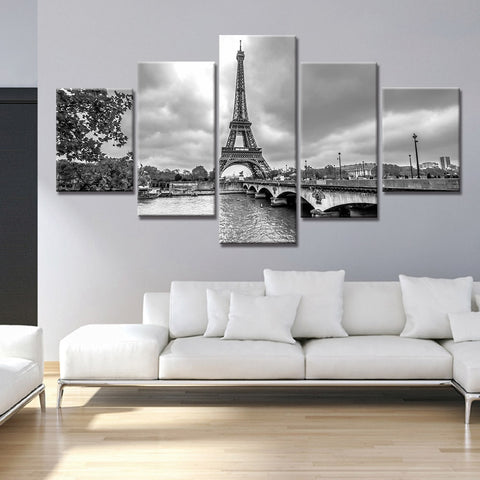 Stunning Eiffel Tower Canvas Prints-40x60 40x80 40x100cm-Framed-Gray-Cool Tees & Things