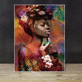 Beautiful Abstract Ethnic Canvas Art Collection. African American Art. Beautiful Black Art Not Framed Canvas Prints-40cmX60cmX1Pc-TWP1181-Brown-Cool Tees & Things