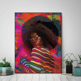 Beautiful Ethnic Canvas Art Collection. Stunning African American Art. Beautiful Black Art Not Framed Canvas Prints-40cmX60cmX1Pc-WP1275-Cool Tees & Things