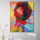 Beautiful Ethnic Canvas Art Collection. Stunning African American Art. Beautiful Black Art Not Framed Canvas Prints-40cmX60cmX1Pc-WP1276-Cool Tees & Things