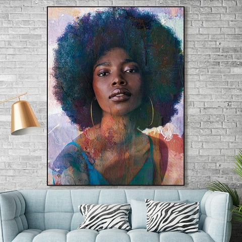 Beautiful Ethnic Canvas Art Collection. Stunning African American Art. Beautiful Black Art Not Framed Canvas Prints-40cmX60cmX1Pc-WP1278-Cool Tees & Things