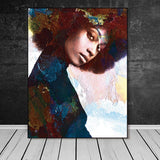 Beautiful Ethnic Canvas Art Collection. Stunning African American Art. Beautiful Black Art Not Framed Canvas Prints-40cmX60cmX1Pc-WP1281-Cool Tees & Things