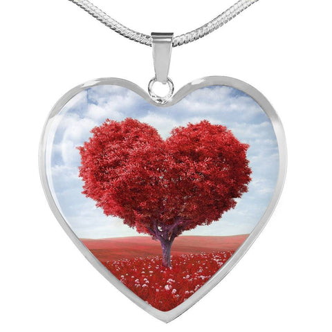 Red Heart Tree Pendant- Cool Tees and Things