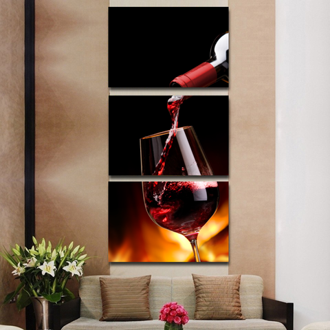 Red Wine Lovers Canvas-Medium-Not Framed-Cool Tees & Things