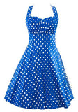 Retro 1950s Polka Dot Smock Swing Dress-Plus Size by Sidecca - Cool Tees and Things