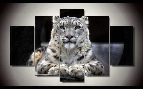 Snow Leopard-Medium-Not Framed-Cool Tees & Things