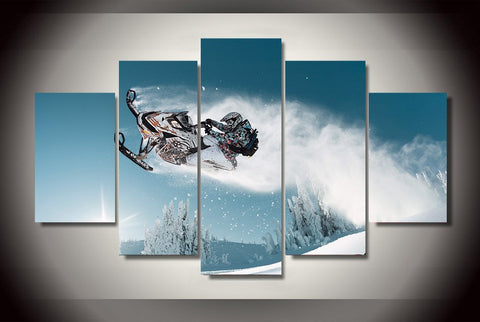 Snowmobile Ride-Medium-Not Framed-Cool Tees & Things