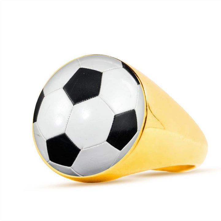 Soccer Luxury Ring - Cool Tees and Things