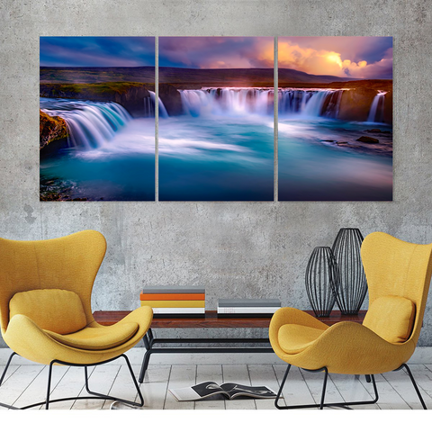 South Iceland - Skogafoss Waterfall Canvas-Medium-Not Framed-Cool Tees & Things