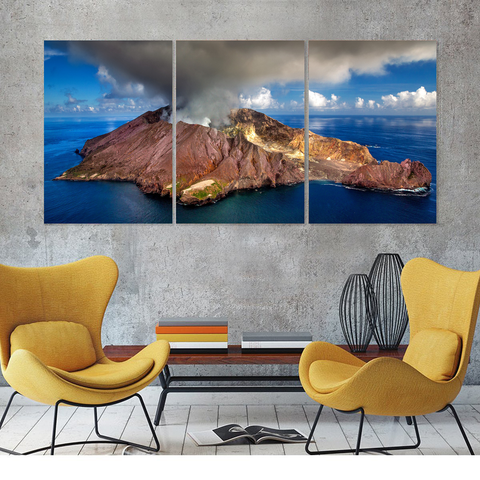 Spectacular New Zealand Volcano-Medium-Not Framed-Cool Tees & Things
