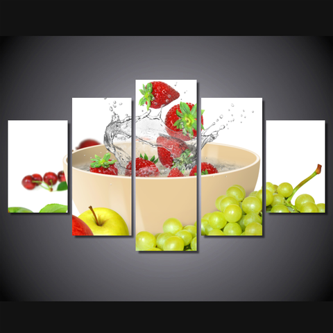 Strawberry Splash_-Wallart 5 Piece Diamond-Medium - No frame-Cool Tees & Things