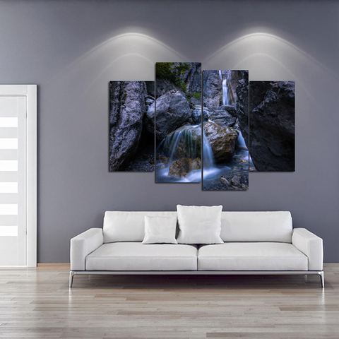 Stunning Austrian Waterfall Canvas Print Wall Art Mural - Cool Tees and Things