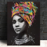 Stunning Ethnic Canvas Art Collection. African American Art. Beautiful Black Art Not Framed Canvas Prints-40cmX60cmX1Pc-WP0572-Cool Tees & Things