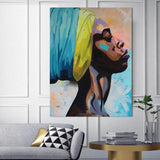 Stunning Ethnic Canvas Art Collection. African American Art. Beautiful Black Art Not Framed Canvas Prints-40cmX60cmX1Pc-wp0451-Cool Tees & Things