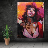 Stunning Ethnic Canvas Art Collection. African American Art. Beautiful Black Art Not Framed Canvas Prints-40cmX60cmX1Pc-wp0450-Cool Tees & Things