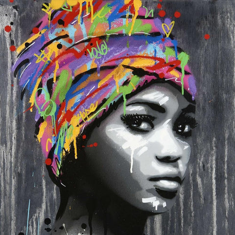 Stunning Ethnic Canvas Print. Beautiful Black Art Canvas-42x60 cm No Frame-PH263-Cool Tees & Things